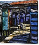 Houses In Sinamaica Lake - Venezuela Canvas Print