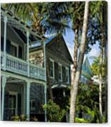Houses In The Palms  Canvas Print