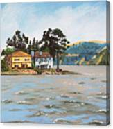 Houses Next To Water Canvas Print