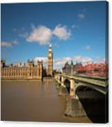 Houses Of Parliament And Westminster Bridge Canvas Print