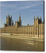Houses Of Parliament On A Rare Day Canvas Print