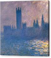 Houses Of Parliament - Sunlight Effect Canvas Print