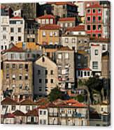Houses Of Porto In Portugal Canvas Print