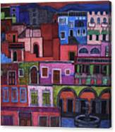 Houses Of San Miguel 2 Canvas Print