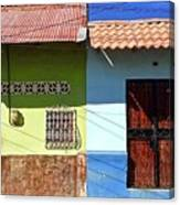 Houses On Street In Leon, Nicaragua Canvas Print