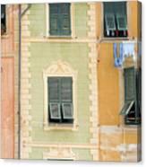 Houses, Portofino, Italy Canvas Print