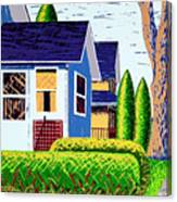 Houses Remastered Canvas Print