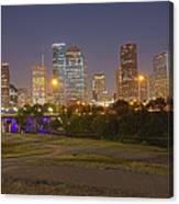 Houston Cityscape1 Canvas Print