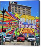 Houston, Inspired, Hip, Tasty, Funky, Savvy Canvas Print