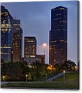 Houston Nighttime Skyline Canvas Print