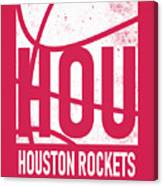 Houston Rockets City Poster Art Canvas Print