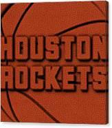 Houston Rockets Leather Art Canvas Print