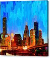 Houston Skyline 102 - Pa Canvas Print