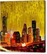 Houston Skyline 111 - Pa Canvas Print