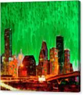 Houston Skyline 112 - Pa Canvas Print