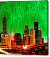 Houston Skyline 115 - Pa Canvas Print