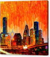 Houston Skyline 116 - Pa Canvas Print