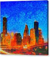 Houston Skyline 130 - Pa Canvas Print