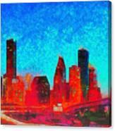 Houston Skyline 131 - Pa Canvas Print