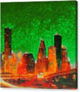 Houston Skyline 133 - Pa Canvas Print