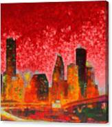 Houston Skyline 134 - Pa Canvas Print