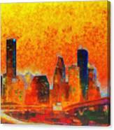 Houston Skyline 135 - Pa Canvas Print