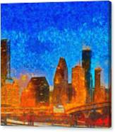 Houston Skyline 40 - Pa Canvas Print