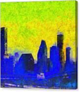 Houston Skyline 42 - Pa Canvas Print