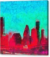 Houston Skyline 44 - Pa Canvas Print