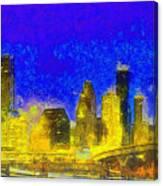 Houston Skyline 45 - Pa Canvas Print