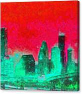 Houston Skyline 47 - Pa Canvas Print