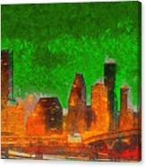 Houston Skyline 48 - Pa Canvas Print
