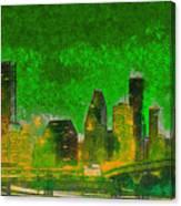 Houston Skyline 49 - Pa Canvas Print