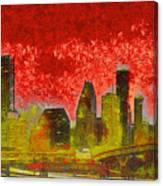 Houston Skyline 50 - Pa Canvas Print