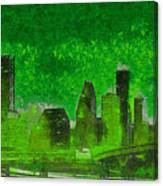 Houston Skyline 51 - Pa Canvas Print