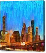 Houston Skyline 80 - Pa Canvas Print