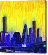 Houston Skyline 83 - Pa Canvas Print