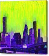 Houston Skyline 84 - Pa Canvas Print