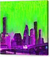 Houston Skyline 85 - Pa Canvas Print