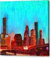 Houston Skyline 87 - Pa Canvas Print