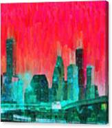 Houston Skyline 91 - Pa Canvas Print