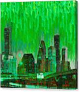 Houston Skyline 96 - Pa Canvas Print