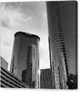 Houston Skyscrapers Black And White Canvas Print