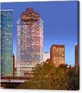 Houston Texas Skyline At Dusk Canvas Print