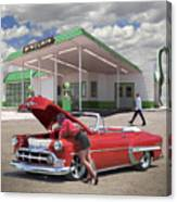 Over Heating At The Sinclair Station Canvas Print