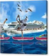 Hoverboarding Across The Atlantic Ocean Canvas Print