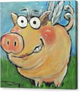 Hovering Pig Canvas Print