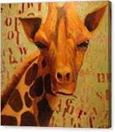 How Do You Spell Giraffe? Canvas Print
