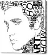 How Great Thou Art Elvis Wordart Canvas Print