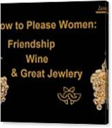How To Please Women Canvas Print